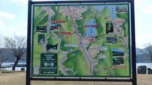 余呉湖サイクリングマップ