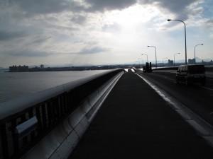 びわ湖一周ロングライド 琵琶湖大橋を 下る