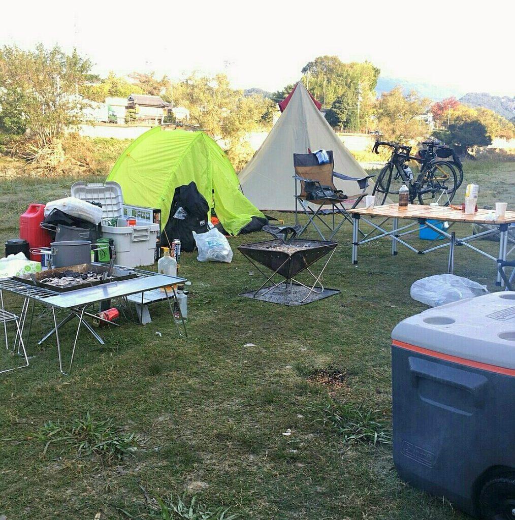 バイクでソロキャンプ